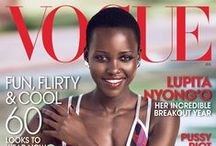 BB: Lupita Nyong'o / An extension of TSV's Beautiful Black™ Series - Celebrating the gorgeous Lupita Nyong'o and her first Vogue (U.S.) cover and spread (July 2014). View entire article here: http://www.vogue.com/magazine/article/lupita-nyongo-first-vogue-cover/#