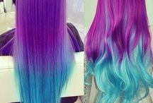 Rainbow, Unicorn, Mermaid Hair