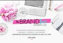 The Brand Bar Members Club / Learn how to Design + Brand your biz. I help you create a cohesive killer look and a totally crush worthy brand: Join The Brand Bar Members Club #thebrandbar