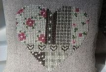 Stitching - hearts / Hearts in cross stitching