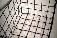 cesto alambre negro /  20 x 15 x 15 alt.