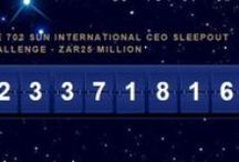 #CEOSleepOutZA Johannesburg 2015 / The 702 Sun International CEO Sleep Out raising awareness & funds for the homeless.