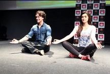 International Day of Yoga Celebration / As part of celebrating the International Day of Yoga, we had actor Tiger Shroff and Kriti Sanon, who visited us for the Yoga session and shared the importance of doing regular Yoga for a healthy mind and body.