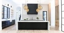 Kitchens- Modern Design / Oil Rubbed Bronze and Wood Vintage Industrial Tuxedo Kitchen