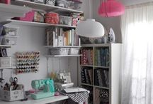 Crap Room- I Mean Craft Room / Craft room organization and decor ideas.