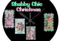 ** CHRISTMAS-SHABBY CHIC / . / by Dandy Mariella