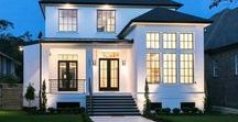 Home Exteriors & Floor Plans-  Modern / Home Exteriors that are modern and vintage inspired.