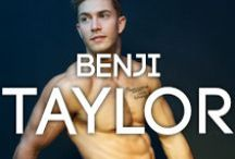 MODEL Benji Taylor / #coolboy and BANG+STRIKE model Benji Taylor is multi-talented - an actor, a model, an american football player... And until 2 years ago he was as scrawny as the next man. But with some dedication and serious iron-pumping he's bulked up admirably and has become a successful underwear model! Check out our blog post and find out where he got his gymspiration > http://www.bangandstrike.com/bangtalk/benji-taylor-superhuman-aspirations/