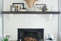 Fireplace- Modern / Modern Fireplace Ideas with hearth and mantle for TV mounting above.