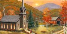 ART - The Lord's House / Artists' paintings of the Bride of Christ, the Church universal.