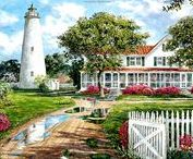 ART - Let your light shine . . . / Lighthouses in fine art and photographs