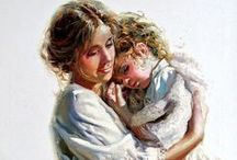 ART - Mother/Grandmother/Child / Mothers, grandmothers, and children in fine art