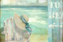 ART - On a beach, somewhere / Fine art goes to the beach ...