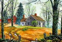 ARTIST - Swan, Fred / A graduate of the U.S. Naval Academy, Fred Swan is completely self-taught as an artist. His paintings are filled with nostalgia and warmth. Each image is richly rural, a way of life experienced by few, but fondly remembered by many.