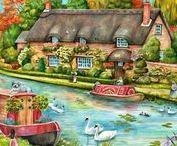ART - Quaint Cottages