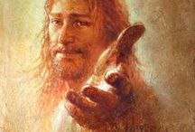 """ARTIST - Kim, Yongsung / Kim became a Christian in middle school and a cartoonist as a young adult. When he was 20, he had a dream that God asked him, """"What are you doing with the gifts I've given you?"""" From there he felt compelled to paint an image of Christ he hadn't seen very often. """"So many depictions of Christ are already dark and somber. I want my paintings to share some of the light and hope that Jesus offers."""""""