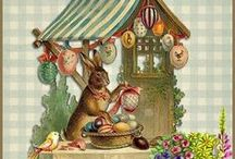 ART - Vintage Easter cards / Cute, sweet, quirky, and plain weird ... it's all here!