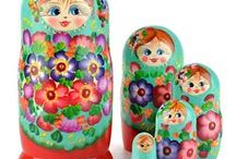 Russian Nesting Dolls - Matryoshkas / Classic Russian nesting dolls to modern matryoshkas and all the stacking dolls in-between.  https://www.therussianstore.com/