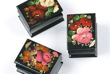 Russian Lacquered Boxes / Russian lacquer boxes from Fedoskino and more. Find more beautiful boxes like this here ►► https://www.therussianstore.com/