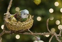 Birdies Live Here / Birdies in trees. Glitter birds and nests. Black tie and white tie birds with jewels. Birds in hats from around the globe. Bird houses. / by Beth Robey