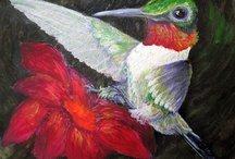 My Birds, Bugs and Buds Paintings