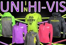 Panthers in Hi-Vis / Bright neon colors! Be seen on the field, on the court and in the stands!