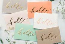 Design Inspiration / Fonts, colors, textures