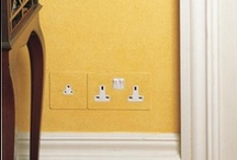Painted Socket Outlets / Socket outlets come with primed-for-paint plates ready to be painted in the colour of your choice to match your walls, skirting or baseboards.