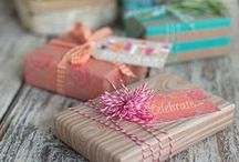 Gifts, cards and wrapping ideas / Great tips for any occasion.  #wrap #wrapping #ideas #gifts #cards #diy #projects #tutorial