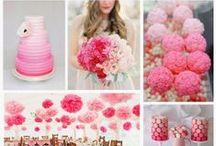 Ombre Düğün Konsepti / Renklere bayılıyorsanız bu konsepte bir göz atın.
