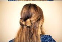 Penteados / Ideias de penteados, nível fácil a médio.