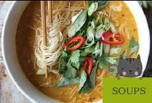 Soups / This board is the best soup recipes!  From savory tomato soup, to Chinese udon noodle soup - it's the best food for Fall and Winter weather!