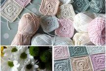 Háčkované čtverečky a šestihrany (Crochet Squares and Hexagons)