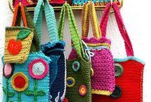Háčkované tašky, košíky, kabelky, .... (Crochet Bags, Baskets, .....)