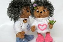 Háčkovaní ježci (Crochet Hetgehog)