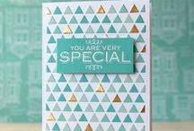 Triangle background cards