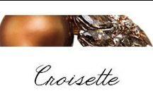 Croisette / #Bibigi | Collezione #Croisette | Gioielli in oro rosa, perle chocolat, diamanti brown e diamanti