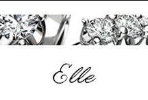Elle / #Bibigi | Collezione #Elle | Gioielli in oro bianco e diamanti.