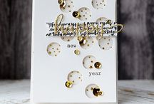 Shakers, glitter and glam cards