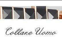 Collane UOMO / Un design minimalista e l'utilizzo di materiali non convenzionali sono i protagonisti della nuova collezione collane UOMO Bibigì. Una straordinaria versatilità di stile che permette di essere indossato con qualunque outift.