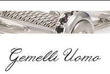 Gemelli UOMO / Un design minimalista e materiali classici formano la collezione di gemelli UOMO Bibigì. Disegni non convenzionali che si adattano facilmente alla vita di tutti i giorni per l'uomo che non sa rinunciare al classico.