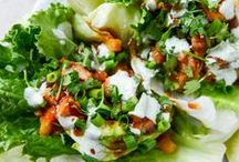 Lettuce Wraps / Some yummy recipes using lettuce as a wrap instead of bread or other carb loaded items.