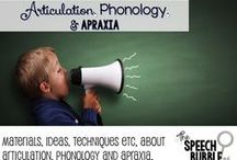 Articulation, Phonology, and Apraxia / Ideas and activities for articulation therapy.