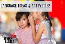Language Ideas and Activities / Ideas and activities to use for language therapy
