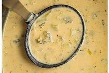 Broccoli + Soup / Broccoli is an amazing addition to soups.  The most popular? Broccoli cheddar soup.