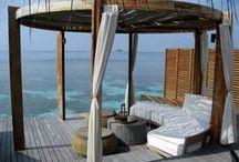 Porch, veranda.