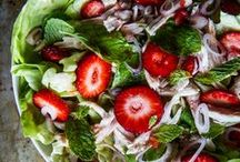 Salads / Yummy inspiration for salads using all types of leafy greens! Healthy, fun, and tasty!