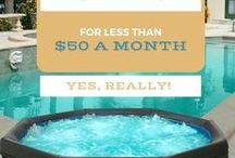 Portable Spas & Hydrotherapy / Portable Hot Tubs and Cool Backyard Ideas