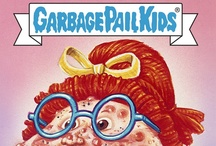 "GARBAGE PAIL KIDS / Garbage Pail Kids (also known as ""The Garbage Gang"" , ""La Pandilla Basura"", ""Basuritas"", ""Gang do Lixo"", ""Sgorbions"", ""Les Crados"", and ""Die total kaputten Kids"") is a series of trading cards produced by the Topps Company, originally released in 1985 and designed to parody the Cabbage Patch Kids dolls created by Xavier Roberts which were immensely popular at the time. FIND YOUR NAME"