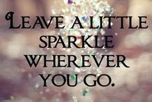 Leave a little sparkle. / ~for those special occasions~